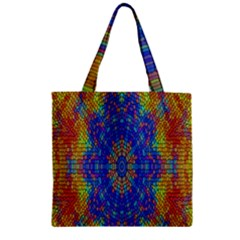 A Creative Colorful Backgroun Zipper Grocery Tote Bag by Nexatart