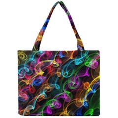 Rainbow Ribbon Swirls Digitally Created Colourful Mini Tote Bag by Nexatart