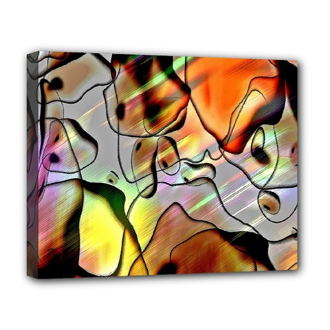 Abstract Pattern Texture Deluxe Canvas 20  X 16   by Nexatart