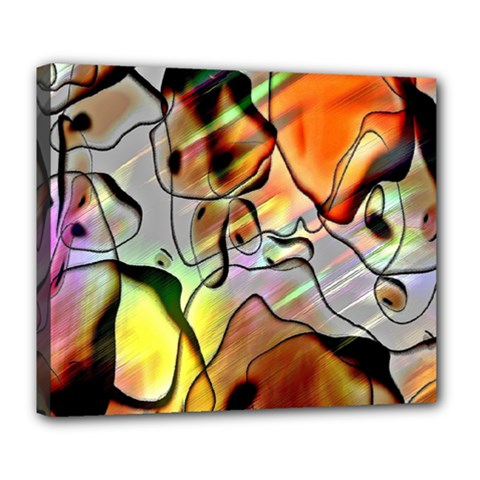 Abstract Pattern Texture Deluxe Canvas 24  X 20
