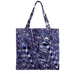 Aliens Music Notes Background Wallpaper Zipper Grocery Tote Bag