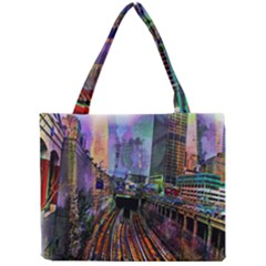 Downtown Chicago City Mini Tote Bag by Nexatart
