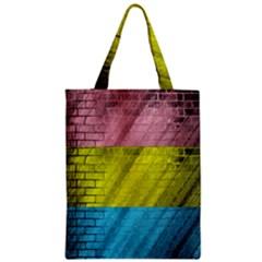 Brickwall Zipper Classic Tote Bag by Nexatart
