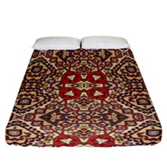Seamless Pattern Based On Turkish Carpet Pattern Fitted Sheet (california King Size) by Nexatart
