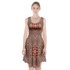 Seamless Pattern Based On Turkish Carpet Pattern Racerback Midi Dress by Nexatart