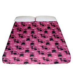 Cute Cats I Fitted Sheet (king Size) by tarastyle