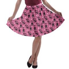 Cute Cats I A Line Skater Skirt by tarastyle