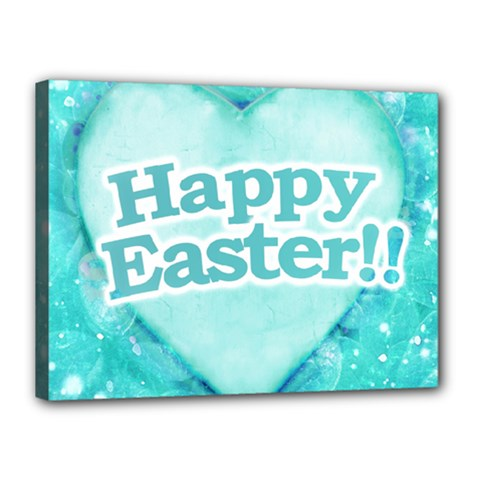Happy Easter Theme Graphic Canvas 16  X 12  by dflcprints