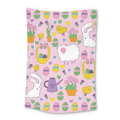 Cute Easter Pattern Small Tapestry by Valentinaart