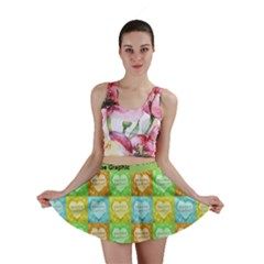 Colorful Happy Easter Theme Pattern Mini Skirt by dflcprintsclothing