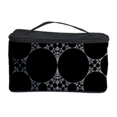 Drawing Of A White Spindle On Black Cosmetic Storage Case by Nexatart