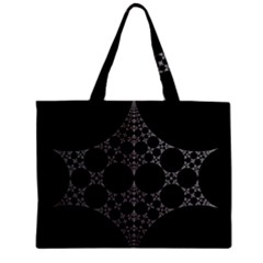 Drawing Of A White Spindle On Black Zipper Mini Tote Bag by Nexatart