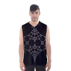 Drawing Of A White Spindle On Black Men s Basketball Tank Top by Nexatart