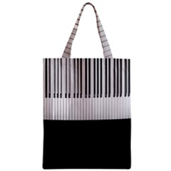 Piano Keys On The Black Background Zipper Classic Tote Bag by Nexatart