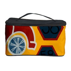 Husbands Cars Autos Pattern On A Yellow Background Cosmetic Storage Case by Nexatart