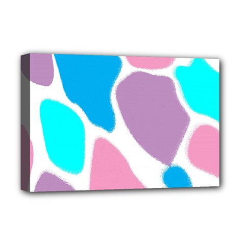 Baby Pink Girl Party Pattern Colorful Background Art Digital Deluxe Canvas 18  X 12   by Nexatart