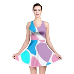Baby Pink Girl Party Pattern Colorful Background Art Digital Reversible Skater Dress