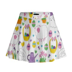 Cute Easter Pattern Mini Flare Skirt by Valentinaart