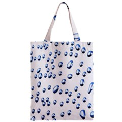 Water Drops On White Background Zipper Classic Tote Bag