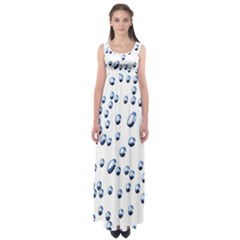 Water Drops On White Background Empire Waist Maxi Dress