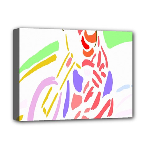 Motorcycle Racing The Slip Motorcycle Deluxe Canvas 16  X 12