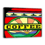 Coffee Tin A Classic Illustration Canvas 16  x 12