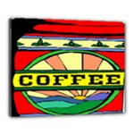 Coffee Tin A Classic Illustration Canvas 20  x 16