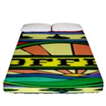 Coffee Tin A Classic Illustration Fitted Sheet (King Size)