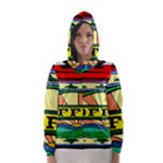 Coffee Tin A Classic Illustration Hooded Wind Breaker (Women)