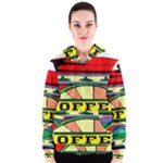 Coffee Tin A Classic Illustration Women s Zipper Hoodie