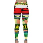 Coffee Tin A Classic Illustration Classic Yoga Leggings