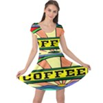 Coffee Tin A Classic Illustration Cap Sleeve Dresses