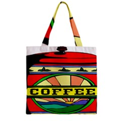 Coffee Tin A Classic Illustration Zipper Grocery Tote Bag by Nexatart