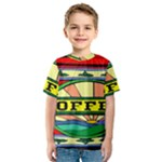 Coffee Tin A Classic Illustration Kids  Sport Mesh Tee