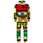 Coffee Tin A Classic Illustration Hooded Jumpsuit (Men)