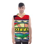 Coffee Tin A Classic Illustration Men s Basketball Tank Top
