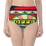 Coffee Tin A Classic Illustration High-Waist Bikini Bottoms