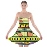 Coffee Tin A Classic Illustration Strapless Bra Top Dress