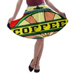 Coffee Tin A Classic Illustration A-line Skater Skirt