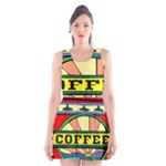 Coffee Tin A Classic Illustration Scoop Neck Skater Dress