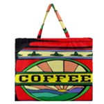Coffee Tin A Classic Illustration Zipper Large Tote Bag