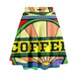 Coffee Tin A Classic Illustration High Waist Skirt