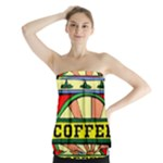 Coffee Tin A Classic Illustration Strapless Top