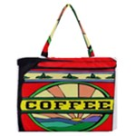 Coffee Tin A Classic Illustration Medium Zipper Tote Bag