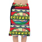 Coffee Tin A Classic Illustration Mermaid Skirt