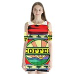 Coffee Tin A Classic Illustration Shoulder Cutout Velvet  One Piece
