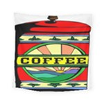 Coffee Tin A Classic Illustration Square Tapestry (Small)