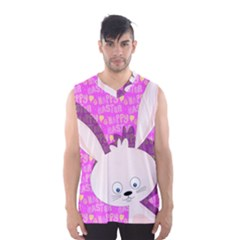Easter Bunny  Men s Basketball Tank Top by Valentinaart