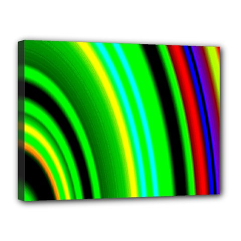 Multi Colorful Radiant Background Canvas 16  X 12  by Nexatart