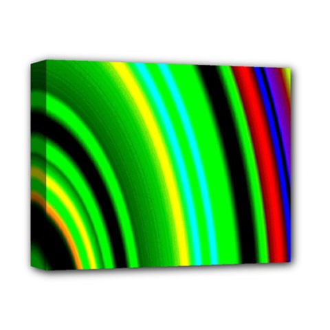 Multi Colorful Radiant Background Deluxe Canvas 14  X 11  by Nexatart